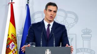 Le chef du gouvernement espagnol, Pedro Sanchez, s'est exprimé vendredi 15février après une réunion du conseil des ministres.