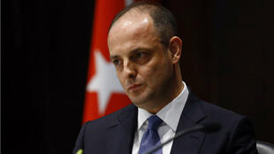 L'ancien gouverneur de la Banque centrale turque, Murat Cetinkaya, lors de sa prise de fonctions, le 19avril2016, à Ankara.