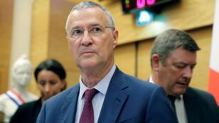Patrick Stzroda, le directeur de cabinet du président Emmanuel Macron, à son arrivée pour être entendu par la comission des lois de l'Assemblée nationale, le 24 juillet.