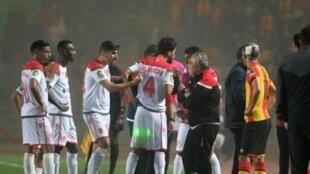 لاعبو الوداد البيضاوي المغربي في إياب نهائي لمسابقة دوري أبطال إفريقيا، 31 مايو/أيار 2019.