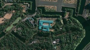 Un exemple d'image prise par le satellite GeoEye1 - le Palais impérial à Tokyo.