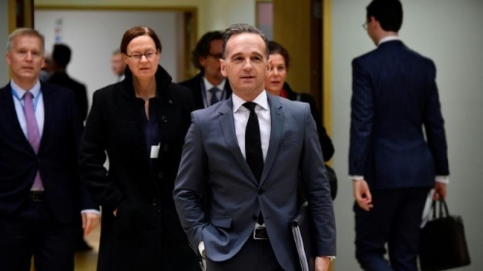 اجتماع وزراء خارجية فرنسا وألمانيا وبريطانيا ووزيرة خارجية الاتحاد الأوروبي في باريس 11 نوفمبر/تشرين الثاني 2019