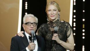 Martin Scorsese y Cate Blanchett en la gala inaugural en Cannes