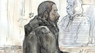 Peter Chérif, lors de son procès le 26 janvier 2011 avant sa fuite vers le Yémen