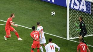 Kane a inscrit un doublé pour l'Angleterre.
