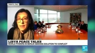 """2020-01-19 19:03 Irene Costantini on France 24: """"The conference in Berlin cannot be understood as the end of the Libyan conflict"""""""