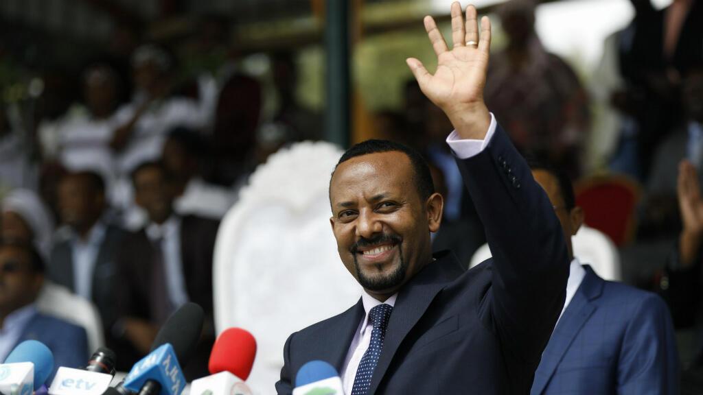 Le Premier ministre éthiopien Abiy Ahmed, lors d'un rassemblement à Ambo, à environ 120km à l'ouest d'Addis-Abeba, le 11 avril 2018.