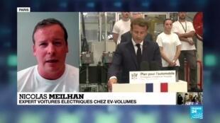 2020-05-26 18:01 Macron annonce un plan de huit milliards d'euros pour l'automobile