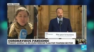 2020-05-14 14:01 French PM Philippe unveils 'unprecedented' 18-billion-euro rescue plan for tourism
