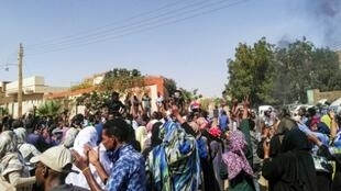 Sudanese protest in Khartoum's twin city of Omdurman on Sunday, despite a nationwide state of emergency