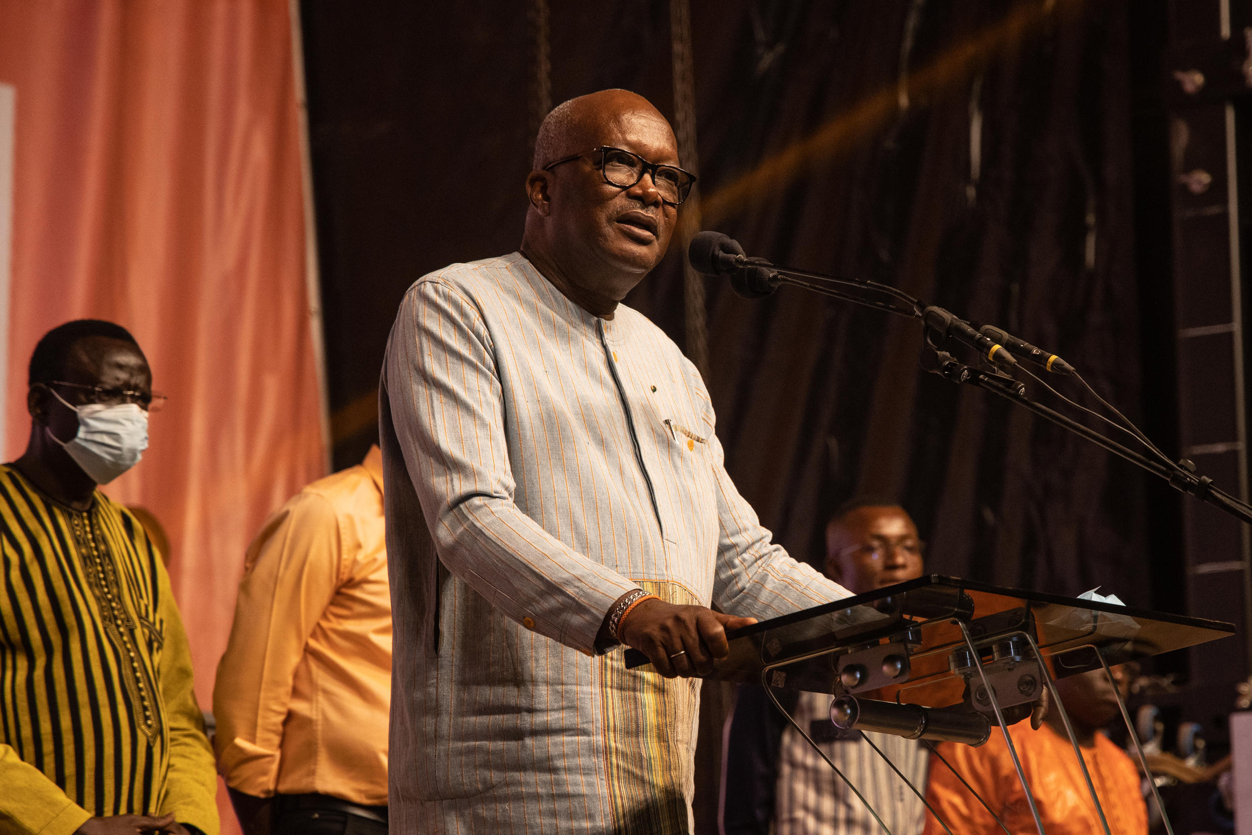 Roch Marc Christian Kabore won an outright majority in the first round of the presidential election, removing the need for a runoff