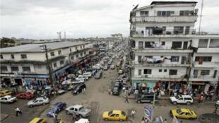 L'incendie s'est déclaré dans les environs de la capitale, Monrovia.