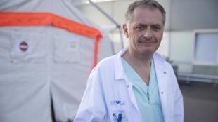 Philippe Juvin, chef des urgences à l'hôpital Georges Pompidou, le 25 mars 2020 à Paris