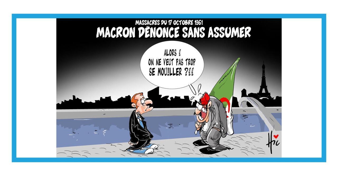 Hommage d'Emmanuel Macron aux victimes de la répression du 17 octobre 1961 à Paris