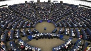 نواب في البرلمان الأوروبي في جلسة افتتاحه في ستراسبورغ بتاريخ 2 تموز/يوليو 2019
