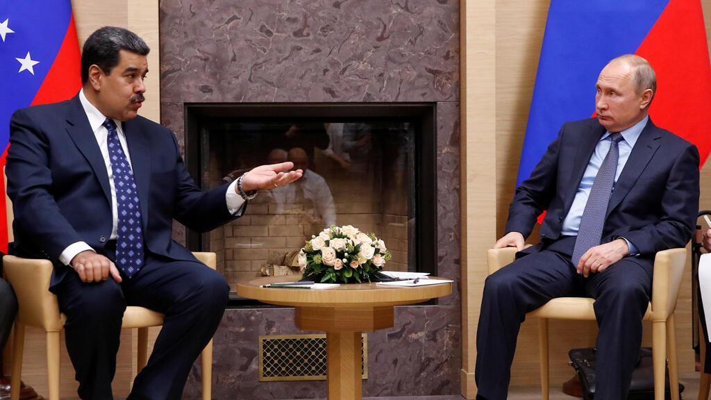 Archivo: El presidente ruso Vladímir Putin (d) se reúne con su homólogo venezolano Nicolás Maduro (i) en la residencia estatal de Novo-Ogaryovo a las afueras de Moscú, Rusia, el 5 de diciembre de 2018.