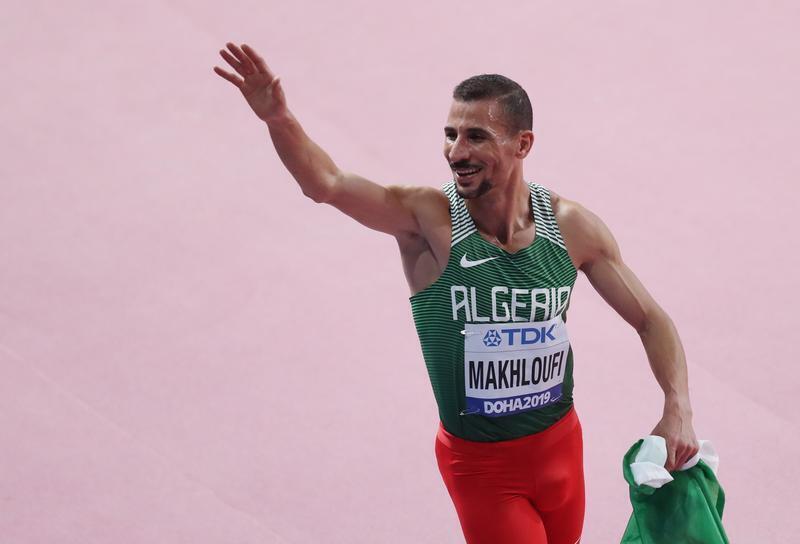 الجزائري توفيق مخلوفي يحرز فضية 1500 متر في مونديال ألعاب القوى