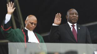 Juramentación oficial del presidente sudafricano Cyril Ramaphosa en Pretoria, Sudáfrica. 25 mayo 2019.