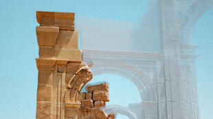 Une reconstitution 3D de l'arche de Palmyre.