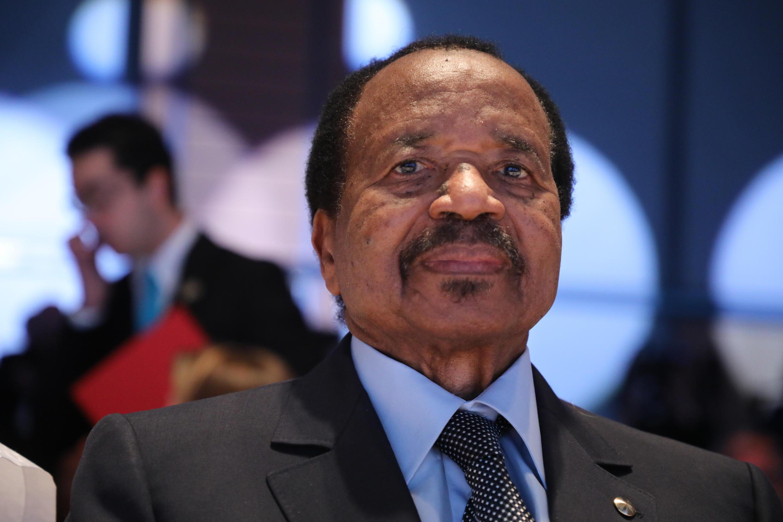 Cameroon President Paul Biya in Lyon, France, on October 10, 2019.