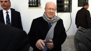Béji Caïd Essebsi s'était déjà déclaré vainqueur de l'élection la veille de l'annonce des résultats par la Commission électorale.