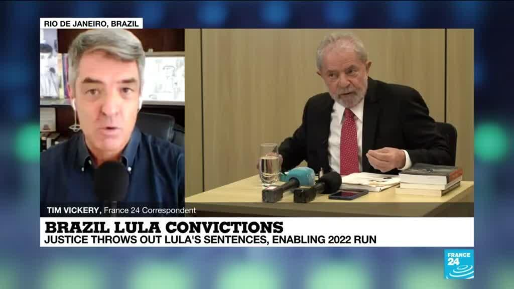 2021-03-09 14:01 'Back in the game': Brazilian justice throws out Lula's sentences, enabling 2022 run