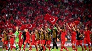 The incident comes after Turkey defeated France 2-0 in Euro 2020 qualifying on Saturday
