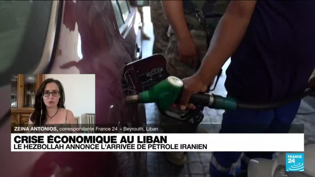 2021-08-20 14:35 Liban: immenses files d'attente devant les stations-service