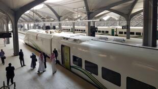 محطة قطار الحرمين السريع في مدينة الملك عبد الله الاقتصادية قرب جدة، 18 سبتمبر/أيلول 2018.