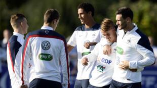 Les joueurs de l'équipe de France, le 1er septembre 2014, à Clairefontaine
