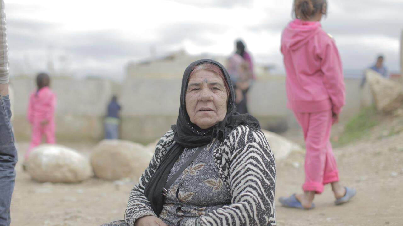 L'une des doyennes d'un camp Dom au Nord-Liban.
