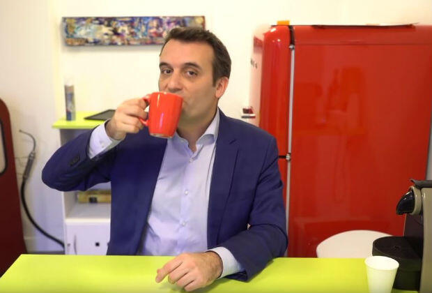 National Front party VP Florian Philippot on his YouTube channel