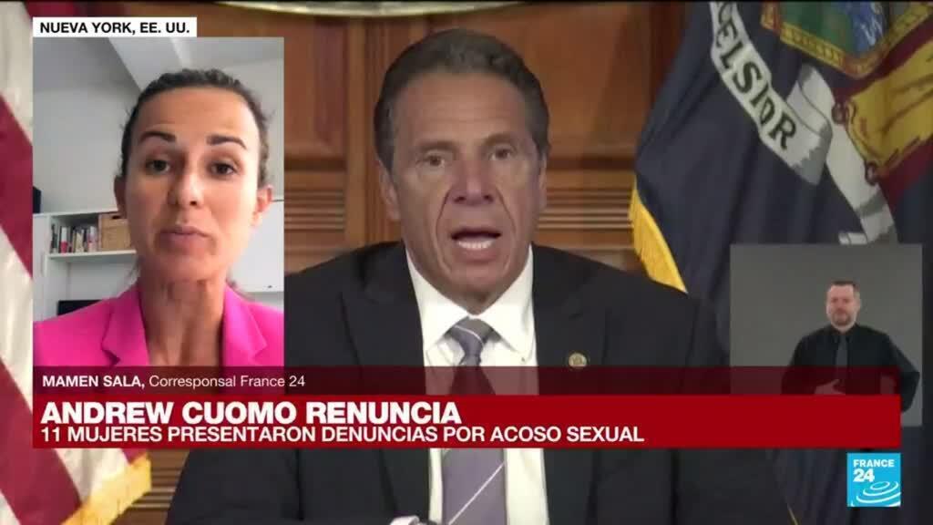 2021-08-10 19:02 Informe desde Nueva York: Andrew Cuomo renuncia a su cargo en medio de escándalo de acoso sexual