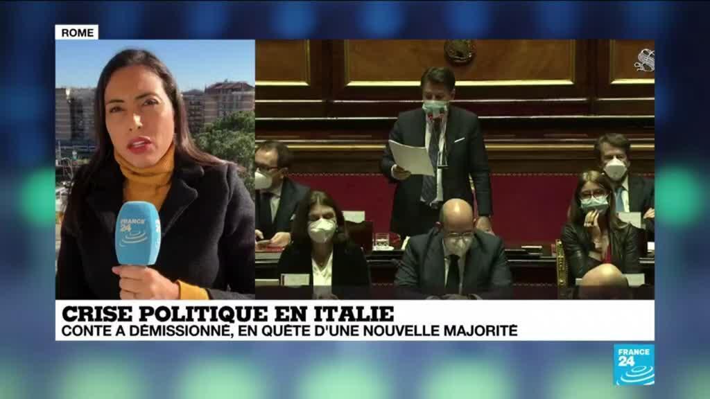 2021-01-26 13:10 Crise politique en Italie : en quête d'une nouvelle majorité G. Conte démissionne