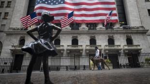 El New York Stock Exchange el 30 de abril de 2020