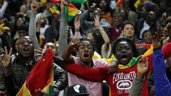 """Fans of Ghana's """"Black Stars"""""""