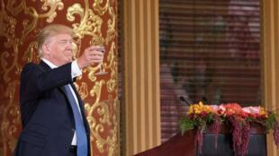Le président américain Donald Trump durant son voyage de deux jours en Chine