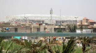 Le stade en construction à Sadr City, chantier sur lequel travaillaient les Turcs enlevés.