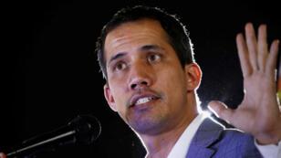 El proclamado presidente interino de Venezuela, Juan Guaidó, asiste a un mitin contra el Gobierno del presidente Nicolás Maduro en Caracas, Venezuela, el 14 de marzo de 2019.
