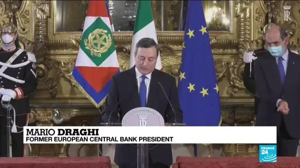 2021-02-04 09:03 Italy's Draghi seeks party backing to end political turmoil