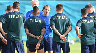 Roberto Mancini's Italy play their final group game against Wales in Rome