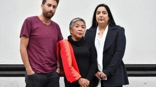 Matthew Caruana Galizia (L), Inday Espina-Varona (C) and Swati Chaturvedi (R)