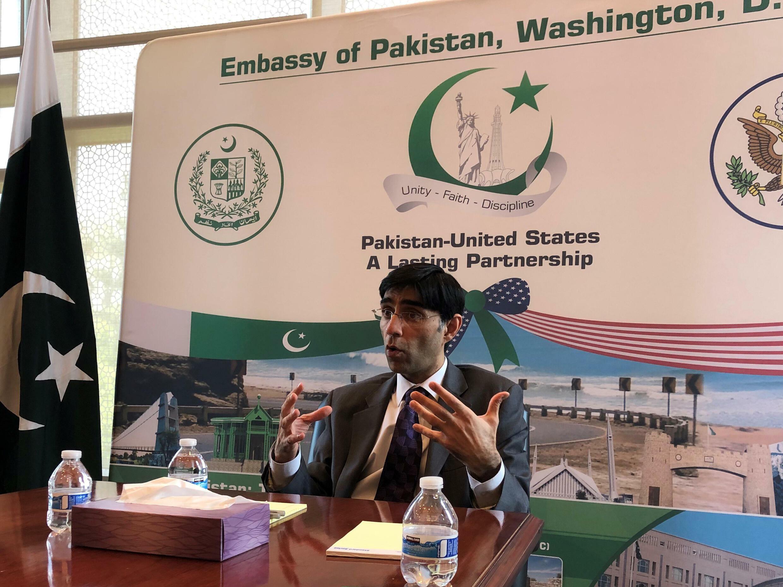 مستشار الأمن القومي الباكستاني معيد يوسف يتحدث في واشنطن