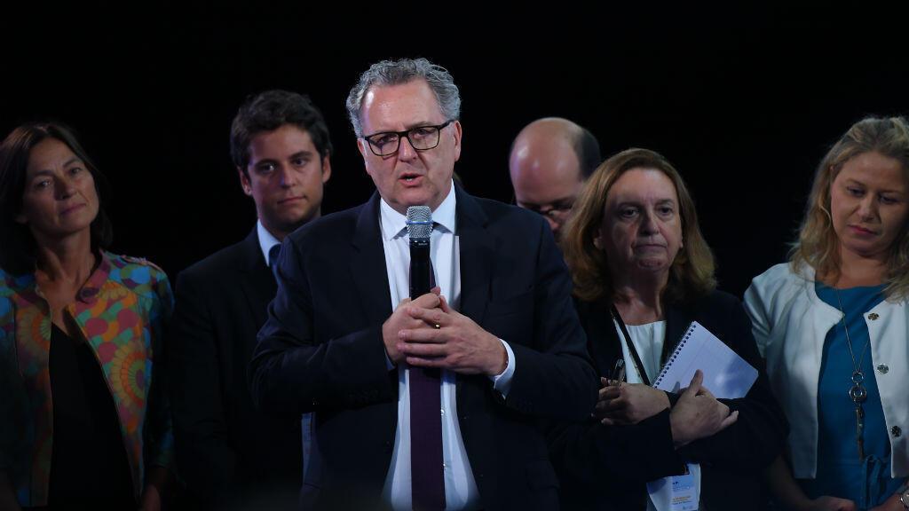 Richard Ferrand s'exprime devant les députés LREM, le 10 septembre à Tours.