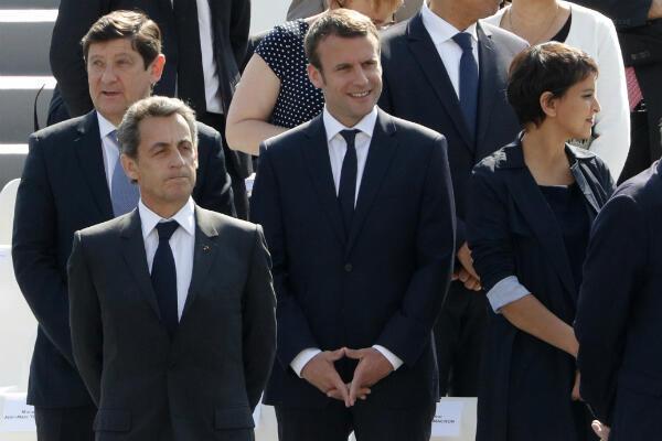 Emmanuel Macron, lors des commémorations de la fin de la Seconde Guerre mondiale, dimanche 8 mai à Paris.