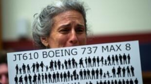 Nadia Milleron, la mère d'une des victimes du crash du vol Ethiopian Airlines 302, à Washington DC, le 19 juin 2019