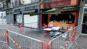 Matthieu Alexandre, AFP | A picture taken on August 6, 2016 shows the damaged Au Cuba Libre bar after a fire in Rouen, France.