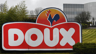 Le siège du groupe Doux à Chateaulin dans le Finistère, le 23 mars 2018