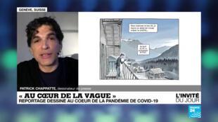 Le dessinateur de presse Patrick Chappatte le 12 novembre 2021 sur France 24.