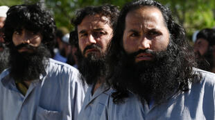 Some of the Taliban prisoners released from Bagram prison since the ceasefire in Afghanistan started